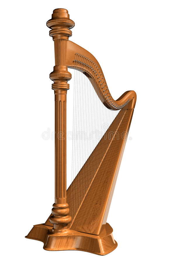 Harpe illustration stock