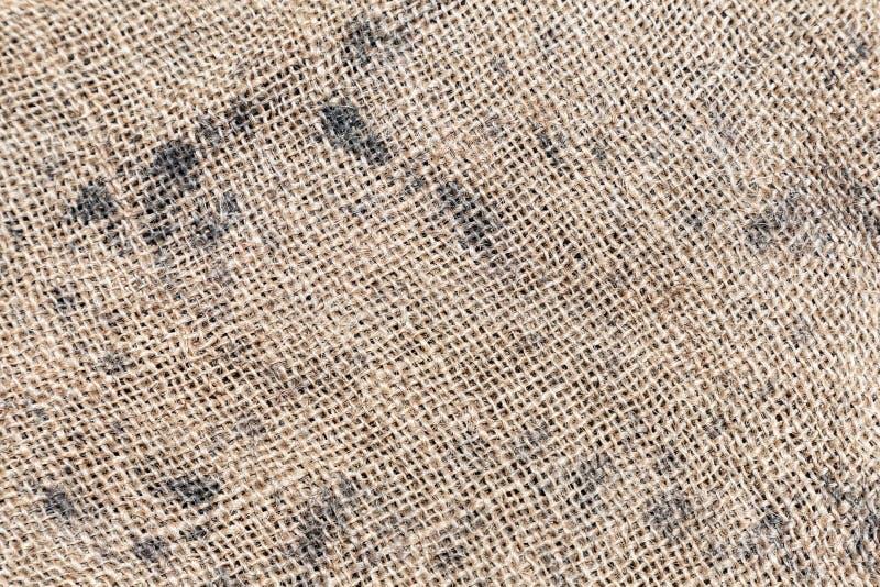 Harpillera de Brown o backgroun de la textura de la arpillera para el diseño fotos de archivo libres de regalías