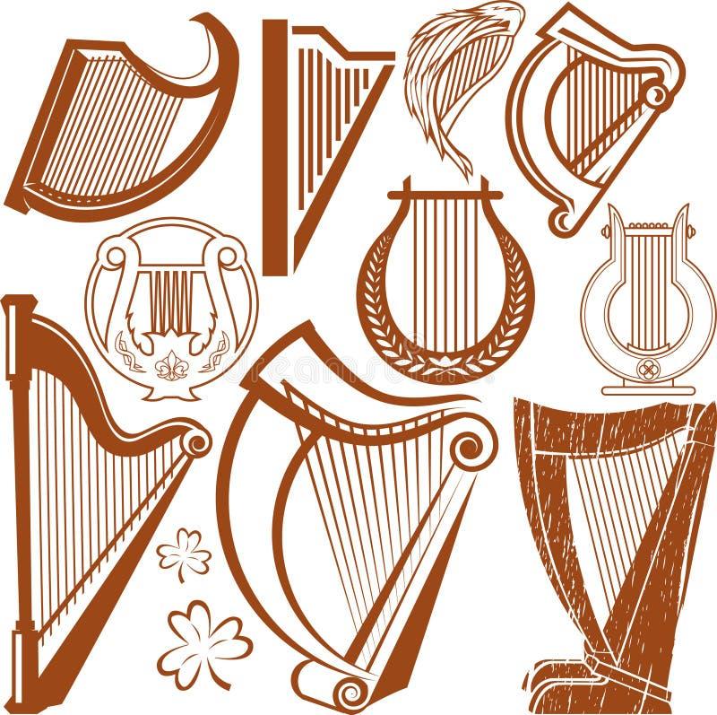 Harpinzameling vector illustratie