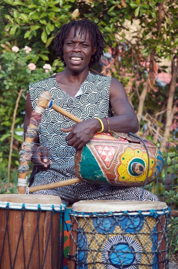 Harpist africain images libres de droits