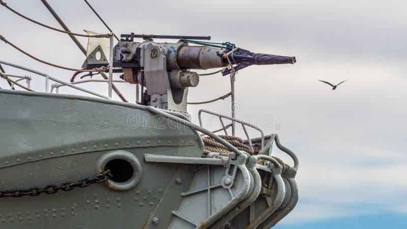 Harpun för valfångstskepp royaltyfria bilder