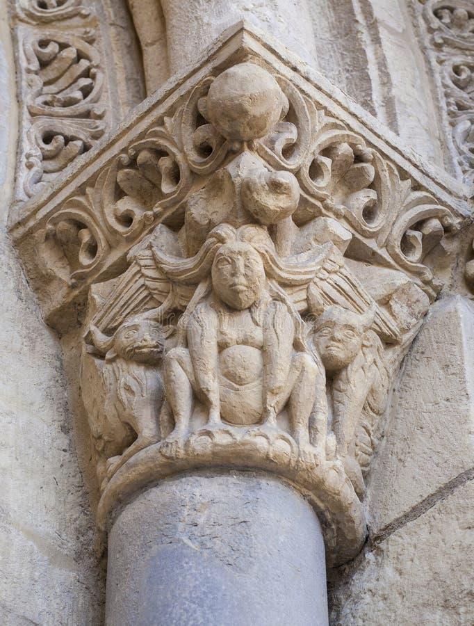Harpy στην πόρτα SAN Ισίδωρος de Leon Lamb, Ισπανία στοκ φωτογραφία με δικαίωμα ελεύθερης χρήσης