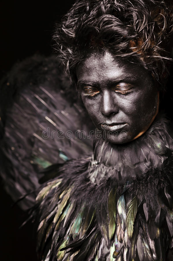 Harpy - mystical creature. Close up portrait of harpy - mystical creature stock images