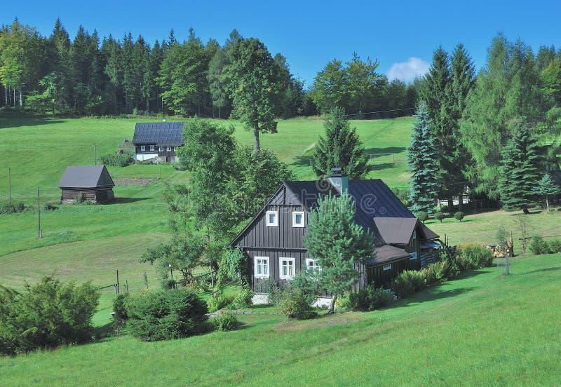 Harrachov, гигантские горы, чехия стоковое изображение rf