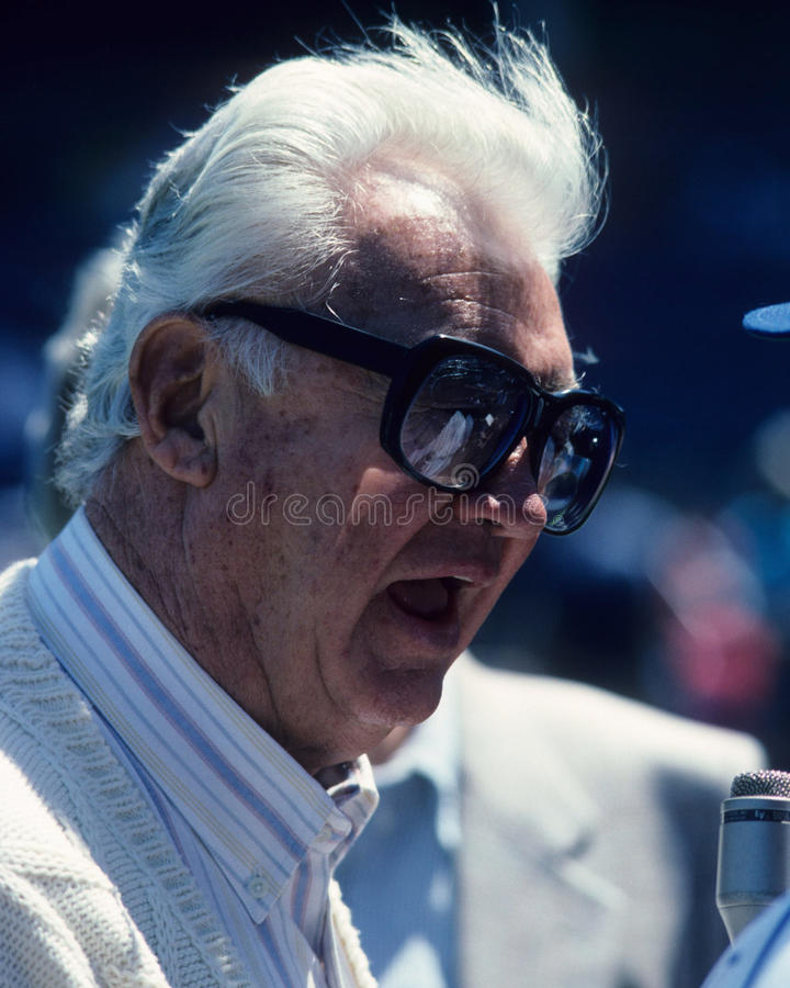Harray Caray. Chicago Cubs broadcaster Harry Caray. (Image from color slide stock photos