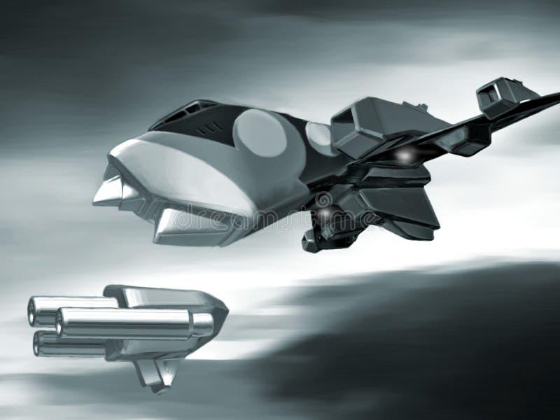 Harrier de l'espace illustration stock