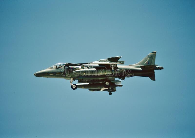 Harrier ZG471 de Royal Air Force GR7 de 35sq em RAF Gutersloh, Alemanha foto de stock royalty free