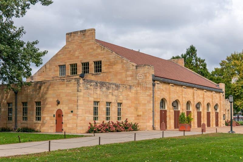 Harriet Island Pavilion historique sur Harriet Island photos stock