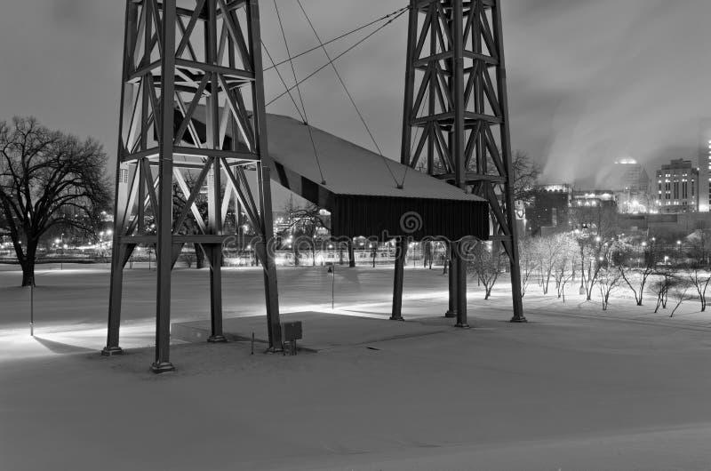 Harriet Island Stage et du centre photographie stock libre de droits