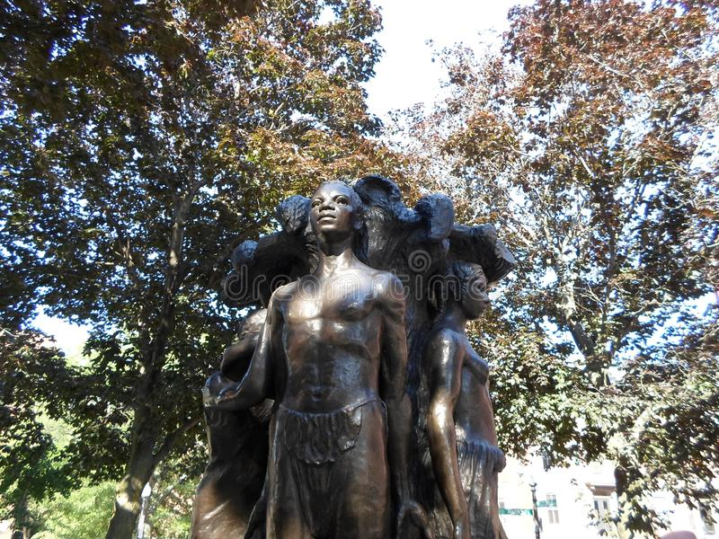 Harriet Tubman Square, Boston, le Massachusetts, Etats-Unis photo stock