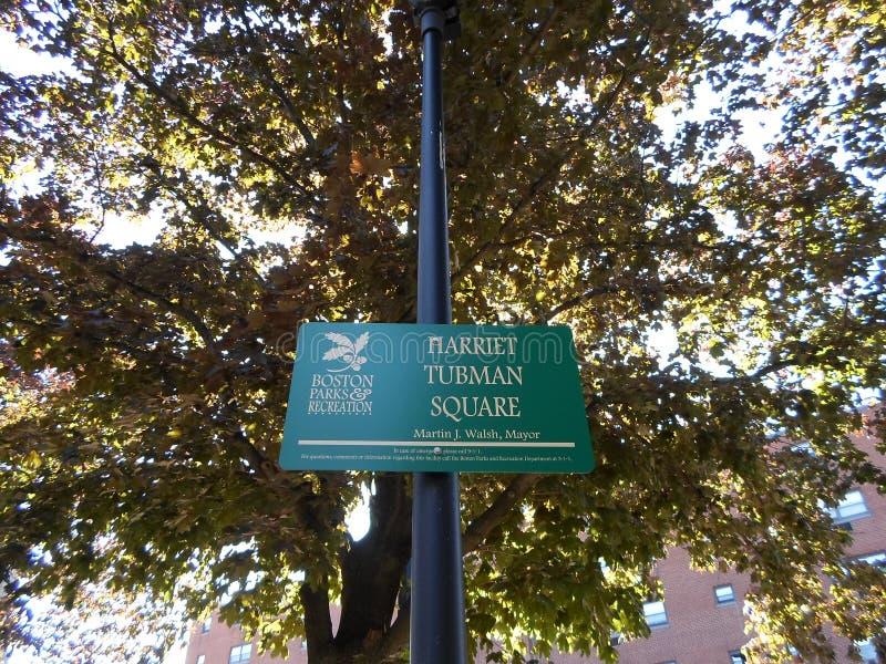 Harriet Tubman Square, Boston, le Massachusetts, Etats-Unis images stock