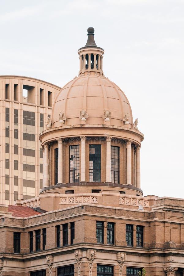 Harris County Courthouse storico 1910, a Houston del centro, il Texas immagini stock libere da diritti