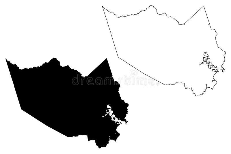 Harris okręg administracyjny, Teksas okręgi administracyjni w Teksas, Stany Zjednoczone Ameryka, usa, U S , USA mapy wektorowa il ilustracji