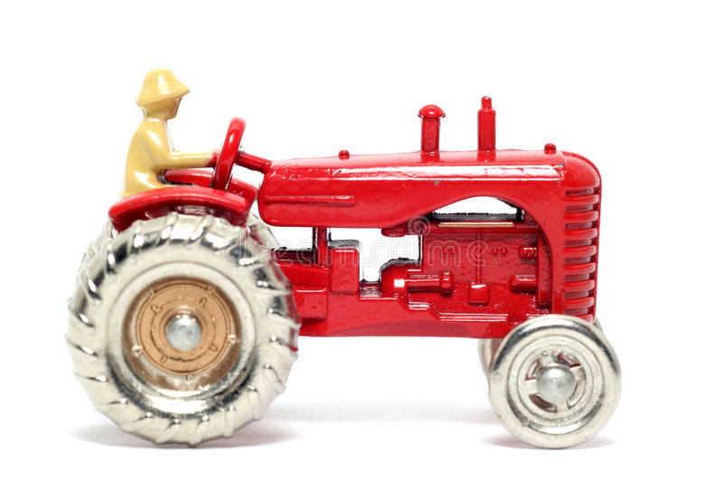 Harris samochodowego massey stary ciągnik zabawek obraz royalty free