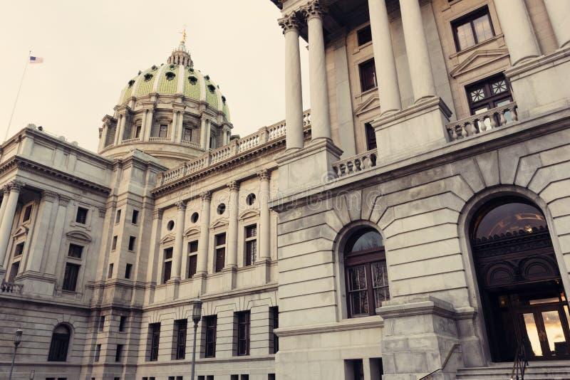 Harrisburg - edificio del capitolio del estado foto de archivo libre de regalías