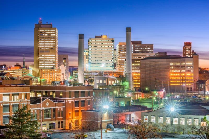 Harrisburg Pennsylvania, USA horisont arkivfoton