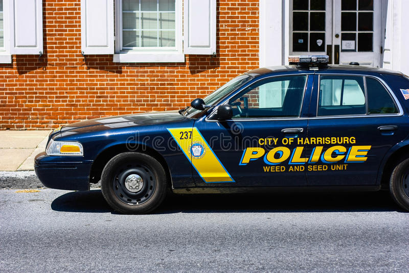 Harrisburg polici 'samochód obraz royalty free