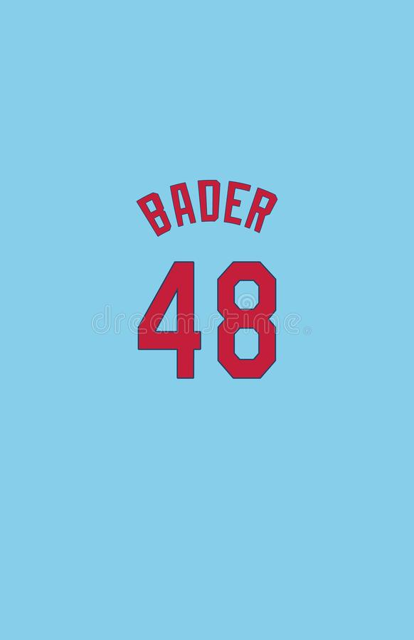 Harrison Bader, St Louis Cardinals Jersey Back stock illustratie