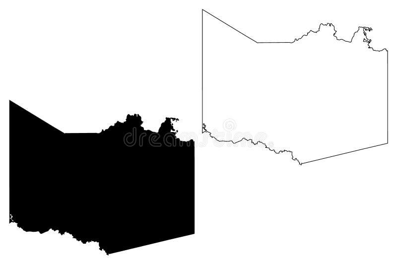 Harrison County, Texas Counties nel Texas, Stati Uniti d'America, U.S.A., U S , Illustrazione di vettore della mappa degli Stati  royalty illustrazione gratis