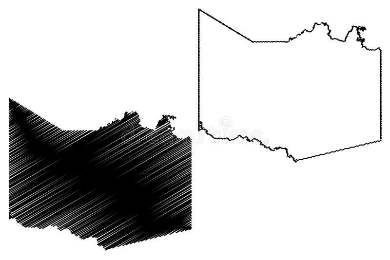 Harrison County, Texas Counties nel Texas, Stati Uniti d'America, U.S.A., U S , Illustrazione di vettore della mappa degli Stati  illustrazione di stock