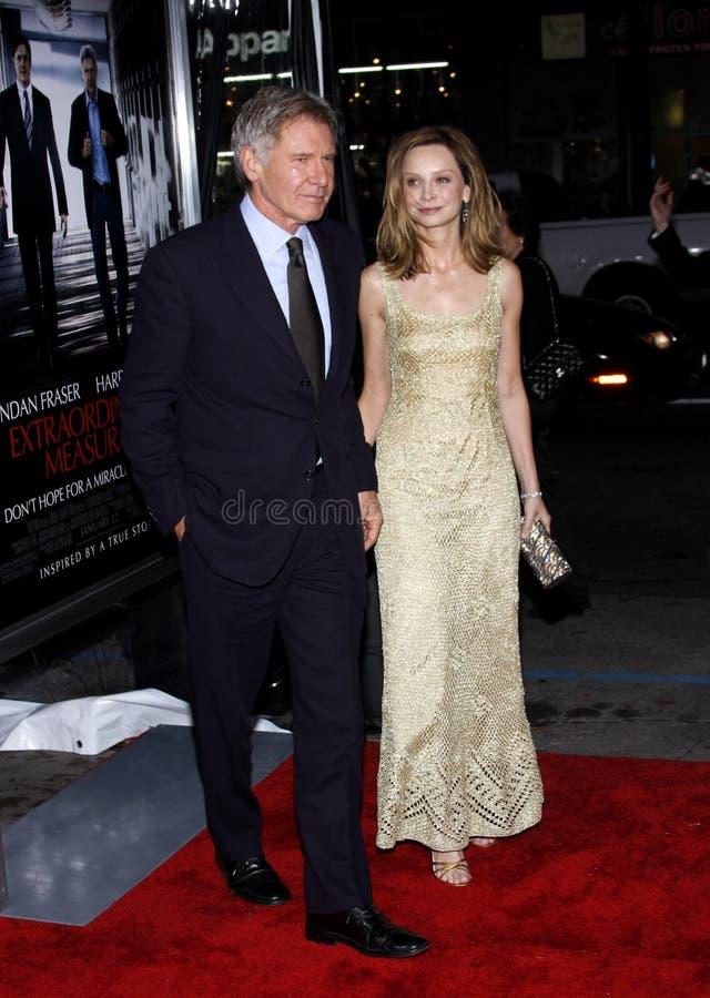 Harrison Ford e Calista Flockhart fotografia stock