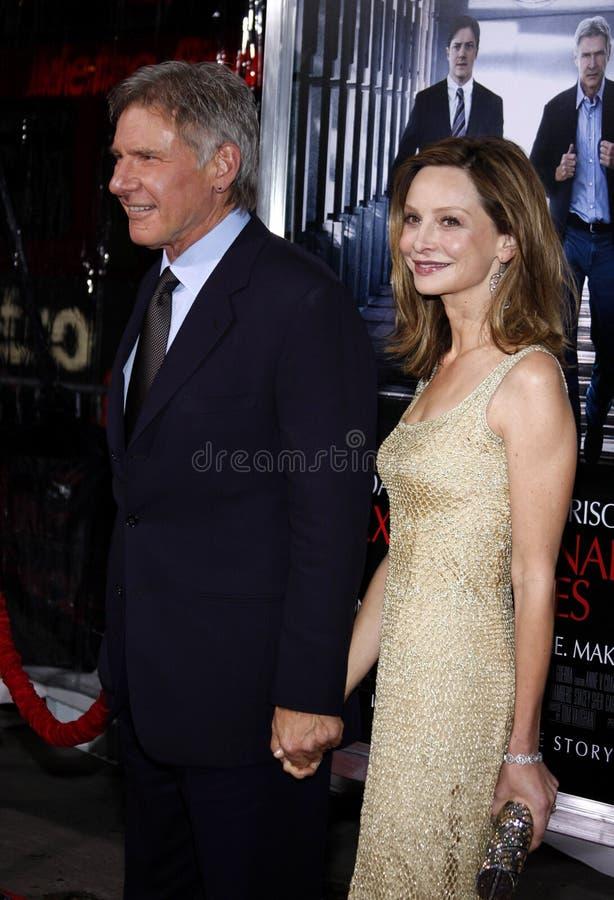 Harrison Ford e Calista Flockhart fotografie stock