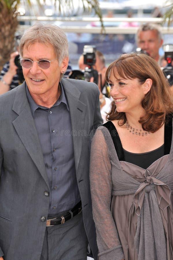 Harrison Ford, Karen Allen arkivbild