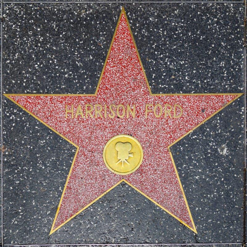 Harrison Ford ` s gwiazda na Hollywood spacerze sława zdjęcie stock