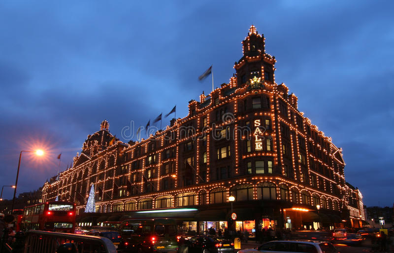 Download Harrods at Christmas editorial stock photo. Image of consumption - 17508123