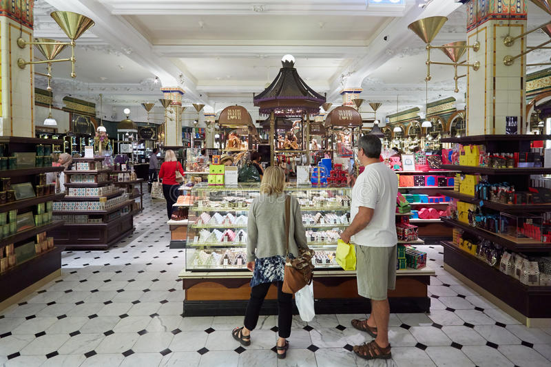 Harrods Department Store Interior, Candies And Sweets Area In London ...