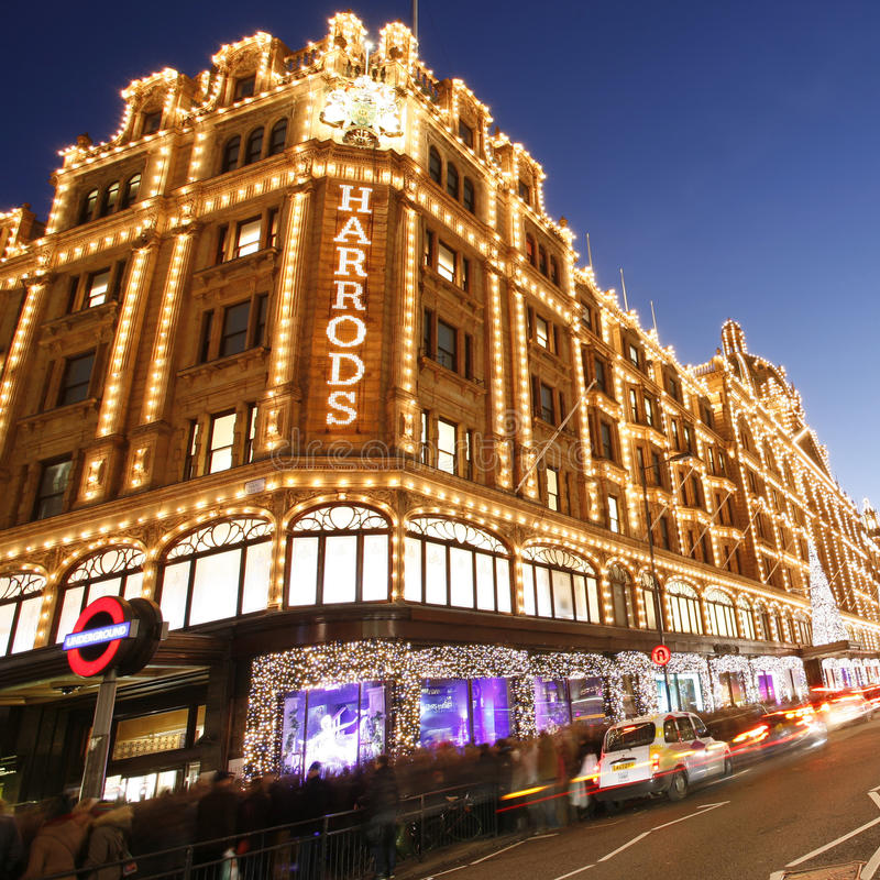 Harrods, magasin de luxe photo libre de droits