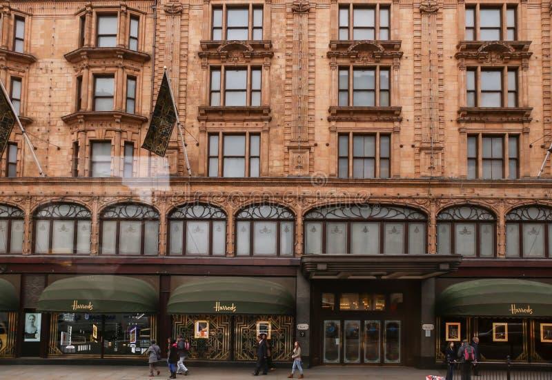 Harrods zakupy centrum handlowe zdjęcia royalty free