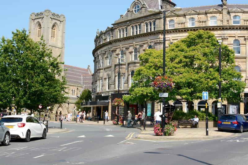 Harrogate town centre royalty free stock image