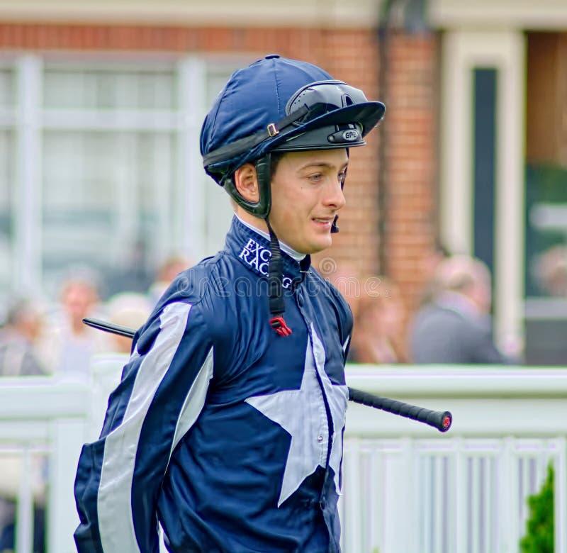 Harry Bentley. UK Horse racing racing jockey. Harry Bentley is the retained jockey for Quatar Racing stock photo