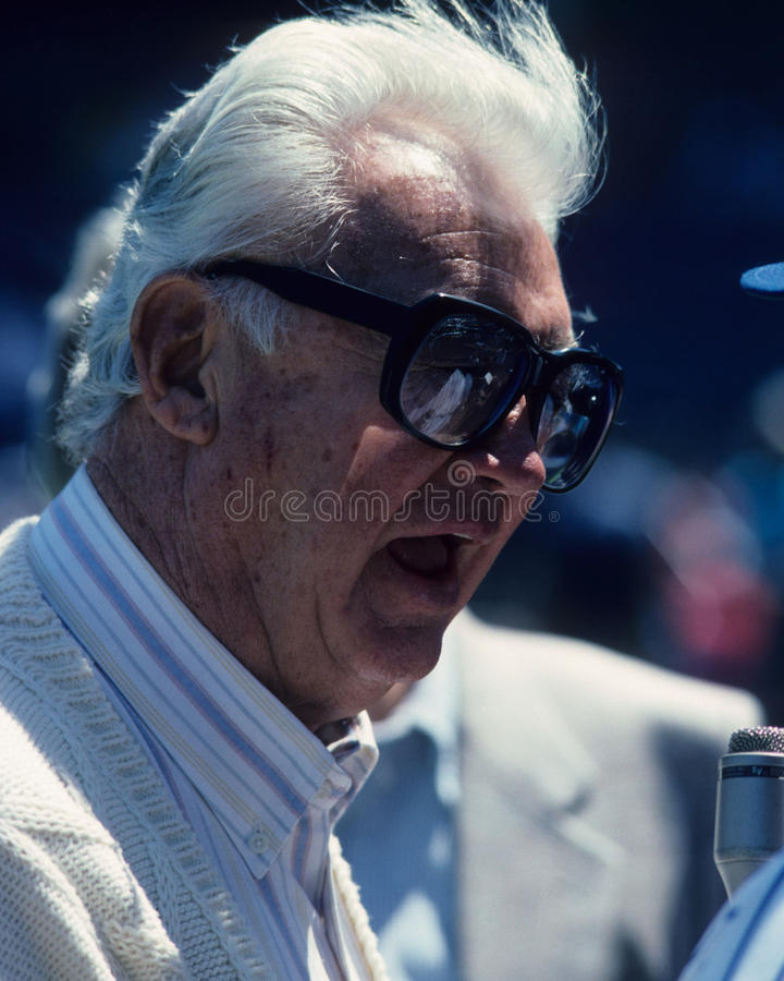 Harry Carey. Chicago Cubs legendary broadcaster, Harry Carey. (Image taken from color slide stock photography