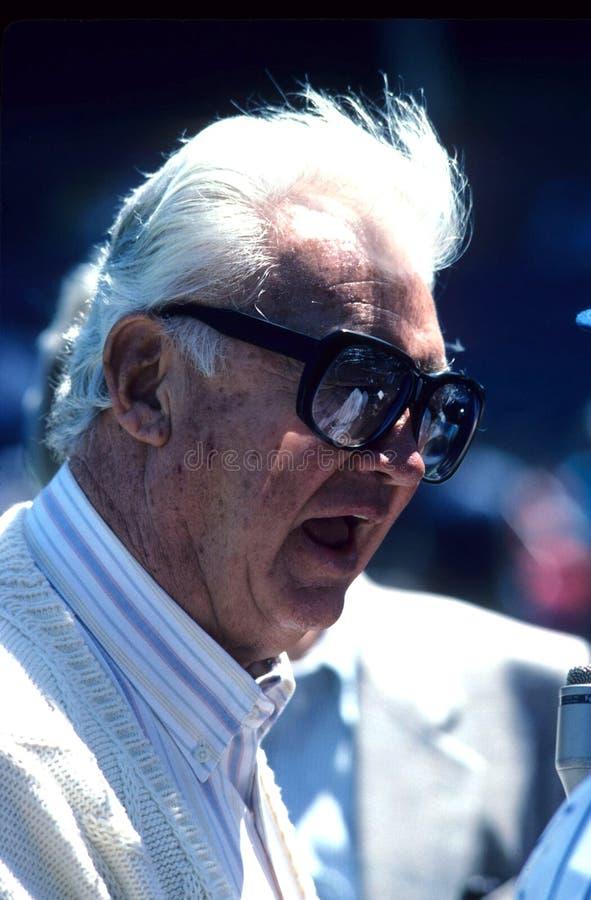 Harry Carey Chicago Cubs imagenes de archivo