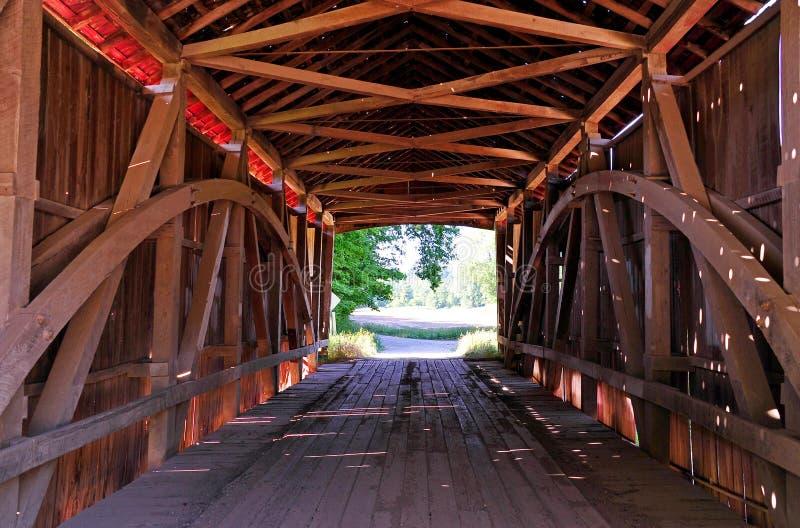 Harry Evans Covered Bridge Interior lizenzfreie stockfotos