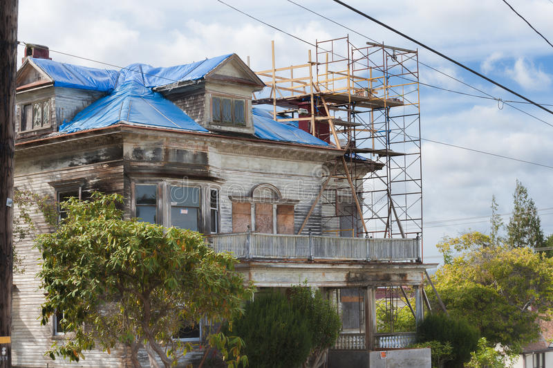 Harry Flavel House in Astoria Oregon stock photo