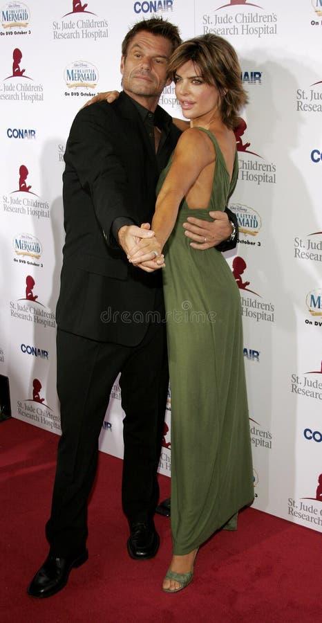 Harry Hamlin en Lisa Rinna royalty-vrije stock foto's