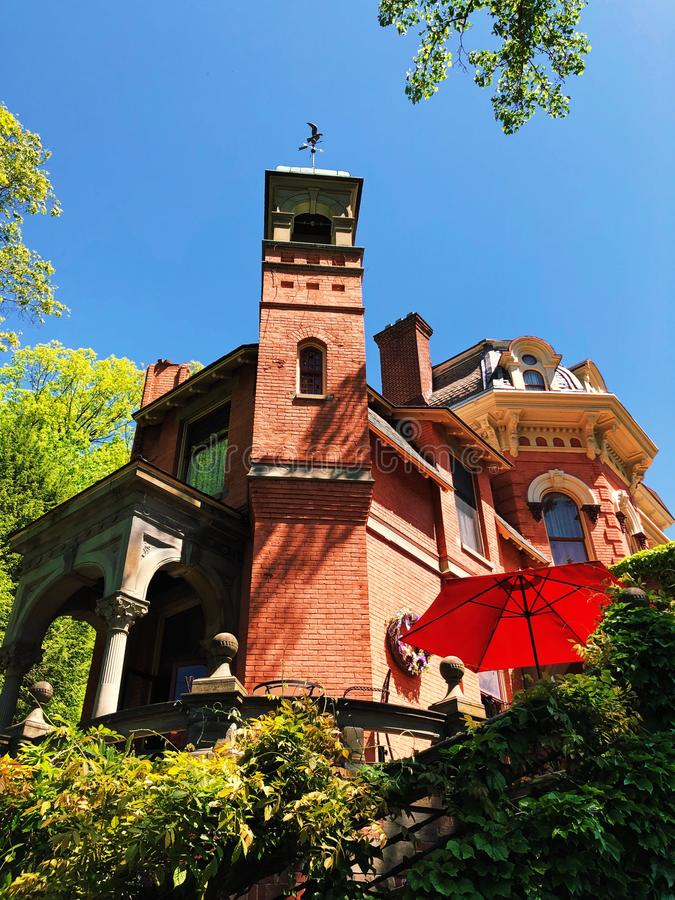 Harry Packer Mansion in Jim Thorpe stock foto's