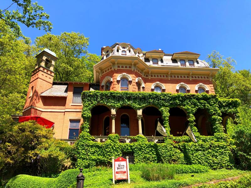 Harry Packer Mansion in Jim Thorpe stock foto