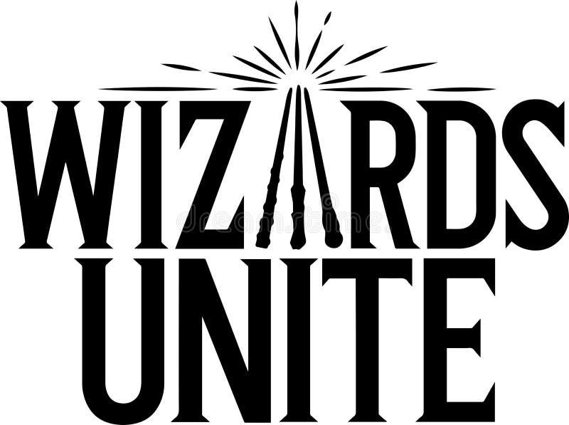 Harry Poter czarownicy Jednoczą logo nową grę od niantic ilustracja wektor