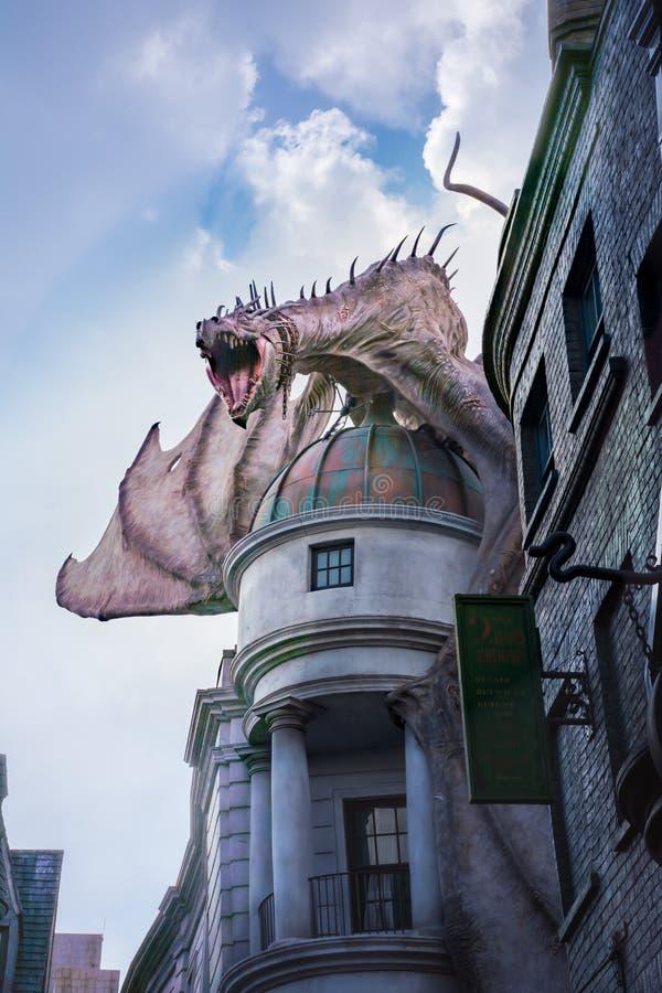 Harry Poter Gringotts smok zdjęcia royalty free
