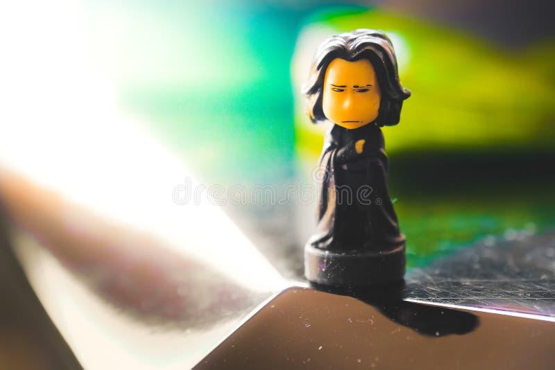 Harry Poter saga akci postaci profesor Severus Snape zdjęcie stock