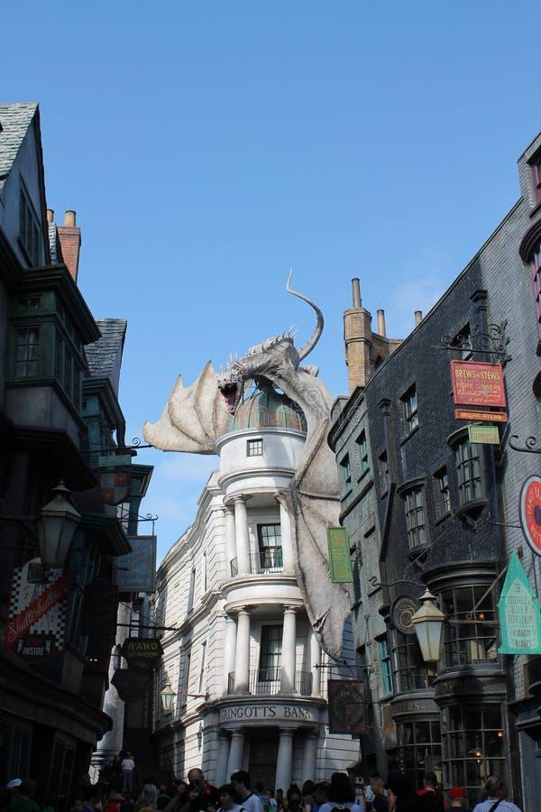 Harry Potter-aantrekkelijkheids universele studio's stock afbeeldingen