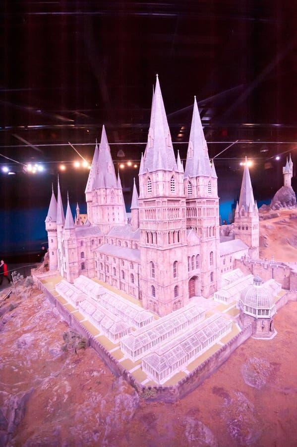 Harry Potter Castle på Warner Bros Studio Tour London arkivbilder