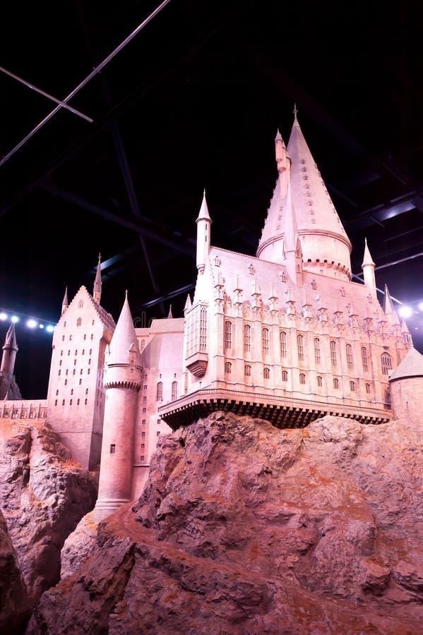 Harry Potter Castle på Warner Bros Studio Tour London royaltyfri bild