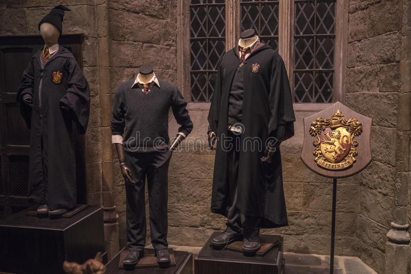 Harry Potter Costumes at Warner Bros. Studios stock photos
