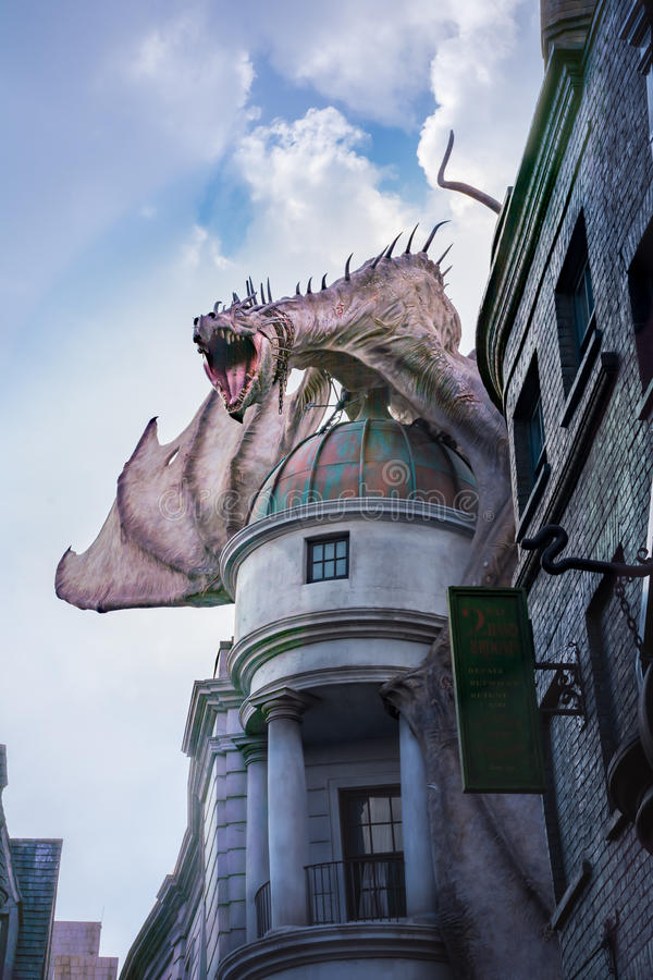Harry Potter Gringotts Dragon fotos de archivo libres de regalías
