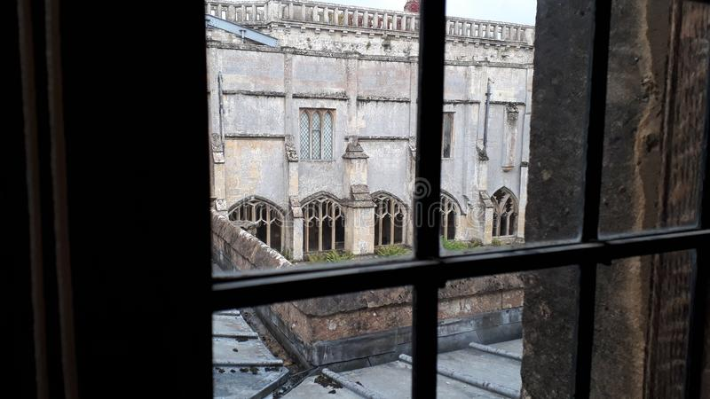 Harry Potter Hogwarts courtyard in Lacock Abbey, Wiltshire stock image